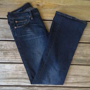 Lucky brand dark wash sweet boot jeans size 26/2